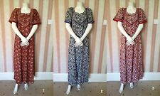B9 New Paisley Print 100% Cotton Maxi Kaftan Dress Nighty UK 14 -20 + 2GIFTT