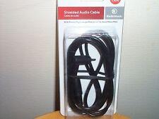 """Radioshack Shielded Audio Cable RCA Phono Right Angle 1/4"""" 6.3mm Mono 6 ft"""