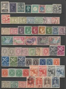 Curacao - 83no. different stamps (CV $259)