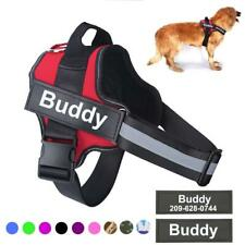 Personalized Adjustable Dog pet control harness collar Reflective Breathable