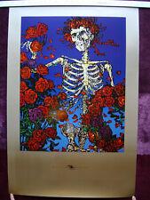 Grateful Dead - Skull and Roses Gold Border 1997 Serigraph poster