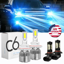 4x For 2004-2014 Ford F-150 8000K LED Headlight Hi/Lo + Fog Light Bulbs Combo