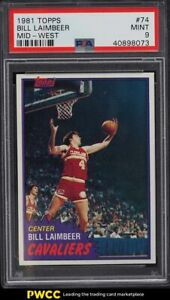 1981 Topps Basketball Bill Laimbeer ROOKIE RC, MID-WEST #74 PSA 9 MINT