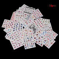 3D Nail Art Transfer Stickers 50Sheets Flower Decals Manicure Decoration TipFLA