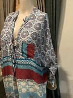 JOHNNY WAS Printed Rayon Tunic - Size S
