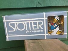 Set Of 6 DONALD DUCK Double Old Fashioned Plastic Glasses -NIB-