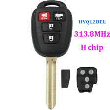 REMOTE KEY FOB for TOYOTA COROLLA 2014-2015 HYQ12BEL CHIP H 4 BUTTONS UNCUT