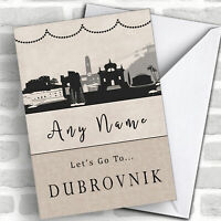 Surprise Let's Go To Dubrovnik Personalised Greetings Card