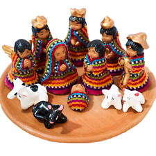 Guatemalan Handmade Porcelain Nativity Scene, Set of 10