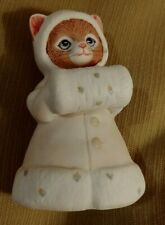 Kitty Cucumber Ginger in Winter Coat & Hood with Fur Muff 1985- Schmid No Box