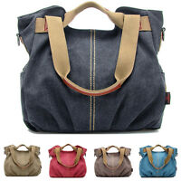 Women Handbag Shoulder Crossbody Purse Canvas Satchel Messenger Hobo Bag