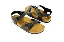 Birkenstock RIO Womens Sandal 42 Size 11US Black Ankle Strap Buckles NWOB