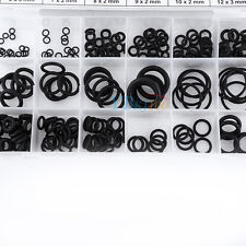 225x 18 Size Rubber O Ring O-Ring Washer Seal Assorted Black Car Air Gas Kit HOT