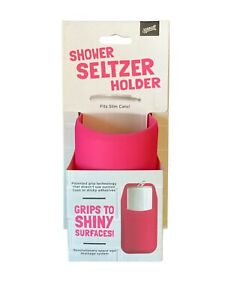 30 Watt Shower Seltzer Holder Pink NEW Fits Slim Cans Grips to Shiny Surfaces