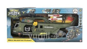 CHAP MEI SOLDIER FORCE MEGA HELICOPTER PLAYSET 31 PCS. NEW