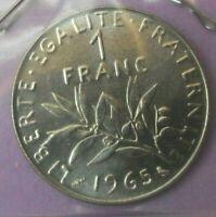 1 franc semeuse 1965 : FDC : pièce de monnaie française N371