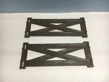 PLAYMOBIL –  2 grandes barrières en bois / Wooden fence / 4826