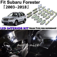 9x White LED Interior Lights Package Kit For 2003 - 2017 2018 Subaru Forester