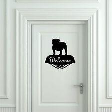Sticker Vinilo - English Bulldog (Welcome) - Wall Art Decall - Vinyl - Pegatina
