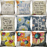 "18"" Cotton Linen Printing Watercolor flowers Pillows case Home Decor Cover"