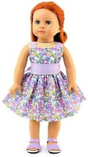 Easter Egg Lavender Dress For 18 Inch American Girl Doll Clothes