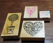 wooden rubber stamp craft scrapbooking lot supplies craft Embossing & Hero Arts