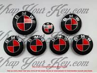 Negro Rojo Msport Emblema Insignia Revestido Envolvente para BMW Hood Maletero