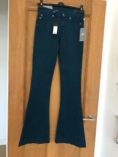 Gorgeous BNWT 7 For All Mankind Teal Blue Jiselle Flare Jeans Size 24