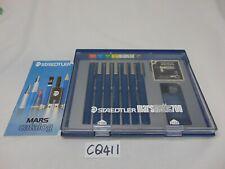 VINTAGE STAEDTLER MARSMATIC 700 TECHNICAL PEN SET 7 PENS W/CATALOG & CASE