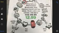 Avon Cherished Memories Bracelet set New in Box with removable charms