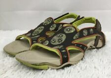 MERRELL Cabo Convertible Brown/Lime US 10 EUR 41 Sandal Hook Loop Closure Cruise