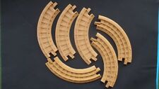 Fisher Price GeoTrax Train Track Lot of 6 Tan, Curved Track Pieces