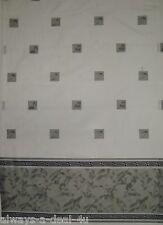 Creative Bath Gray & White Bathroom Window Curtains
