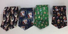 Keith Daniels Christmas Neck Ties Lot of 4 in Amazing Condition