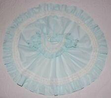 Vintage Mini World Girls Party Dress CIRCLE Aqua LACE Dots USA Layette 0-3 m  #1