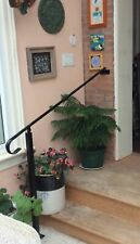 Wrought Iron/Metal Garden/Step Saftey Rail/Handrail Powdercoated/natural