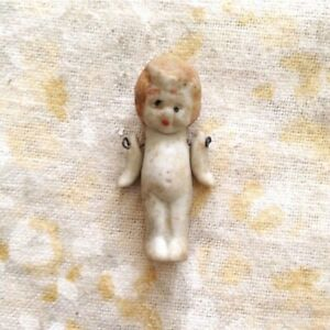 Vintage Kewpie Doll Japan Porcelain Hinged Arms Miniature Small Tiny 1 3/4""