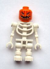 Lego squelette Blanc orange Tête De Citrouille Halloween Mini figurine Fantaisie