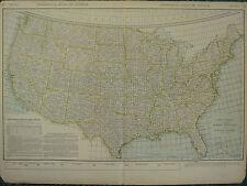 1922 mappa di grandi dimensioni ~ Stati Uniti, Pacchi postali mappa le tariffe di spedizione ~ Rand McNally