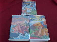 3 VHS TAPE THE LAND BEFORE TIME BIG FREEZE V11, V LOT