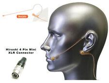 Mini Tan Beige Earset Omnidirectional Earhook Mic for Audio Technica Wireless