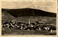 Oberwiesenthal Sachsen Postkarte ~1930/40 Gesamtansicht mit Fichtelberg Seilbahn