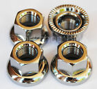 """Swivel washer BMX axle """"track"""" nuts - SAVE YOUR DROPOUTS - SET OF 4 - 3/8"""" X 24T"""