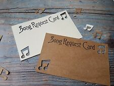 HANDMADE RUSTIC SONG REQUEST CARDS x10 ,WEDDING,BIRTHDAY PARTIES, SWEET 16.
