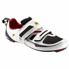 Mavic Tri Race Triathlon Cycling Shoe - White / Black / Red - Euro size 40 2/3