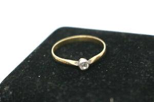 585.Gold Diamant Ring Österreich 0,12 ct. um 1900