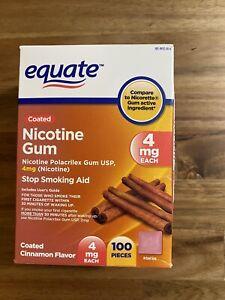 Equate Nicotine Gum  Cinnamon Flavor 4mg 100 Pieces Exp 12/2023