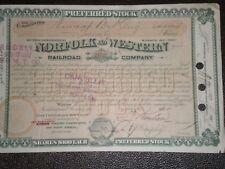 Norfolk & Western Railroad Company   1887