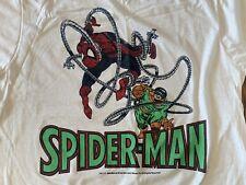 vtg Spiderman Marvel comic t shirt horror 80s promo all over print x-men dc