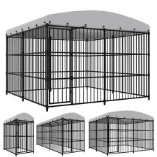 Heavy Duty Large Playpen Dog Kennel with Roof Pet Pen Run House Cage Outdoor